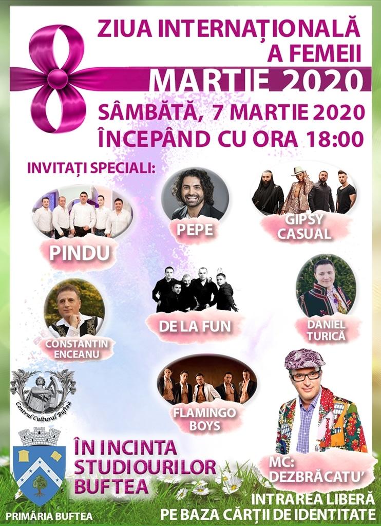 ZIUA INTERNAȚIONALĂ A FEMEII - 7 MARTIE 2020 - STUDIOURILE BUFTEA